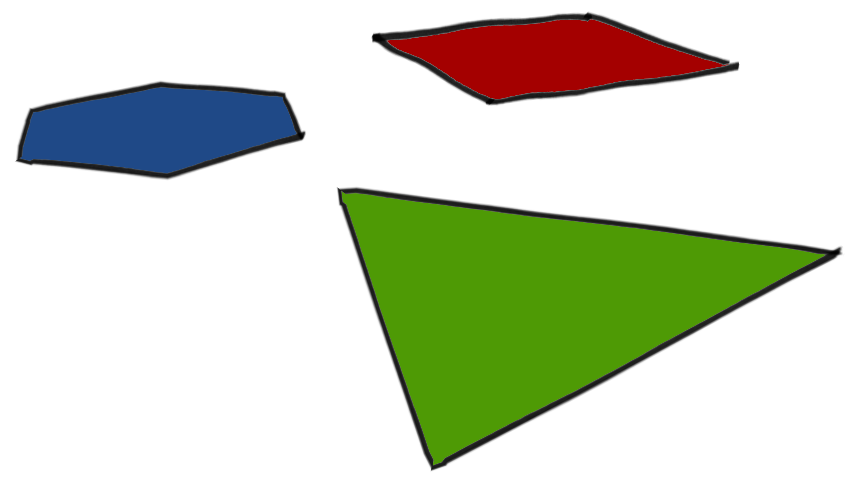 A square, triangle, and circle in Flatland
